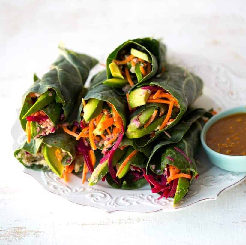 Wraps in Peanut Sauce
