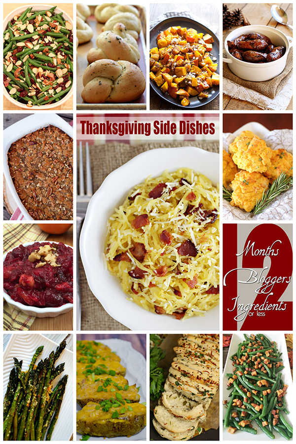 Thanksgiving Side Dishes - 12Bloggers November Event
