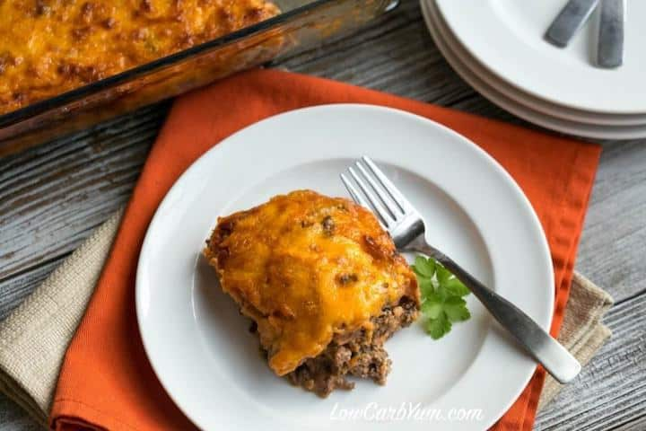 Low carb bacon cheeseburger casserole recipe
