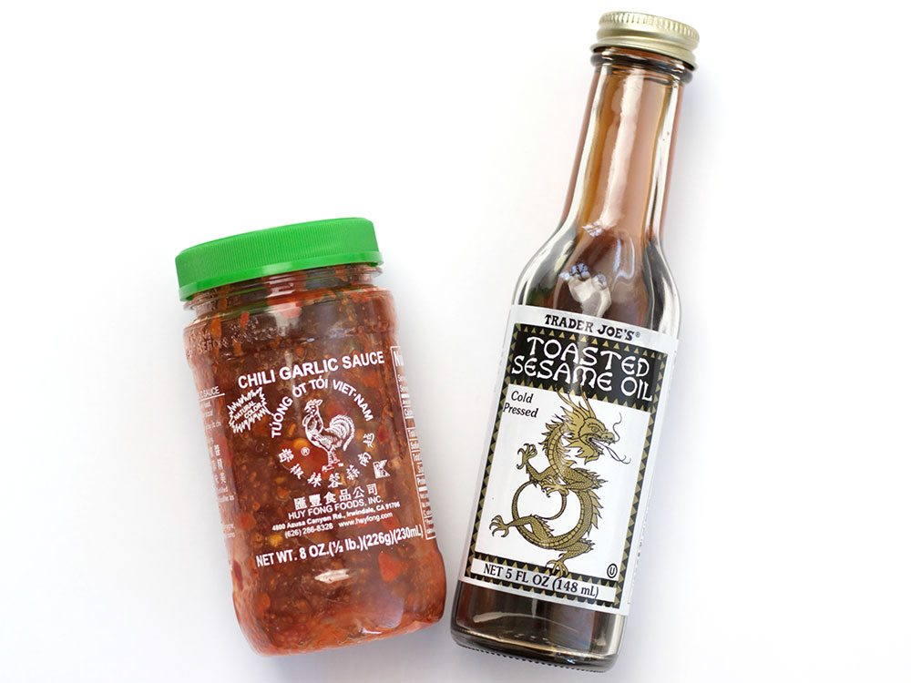 Chili Garlic Sauce and Sesame Oil