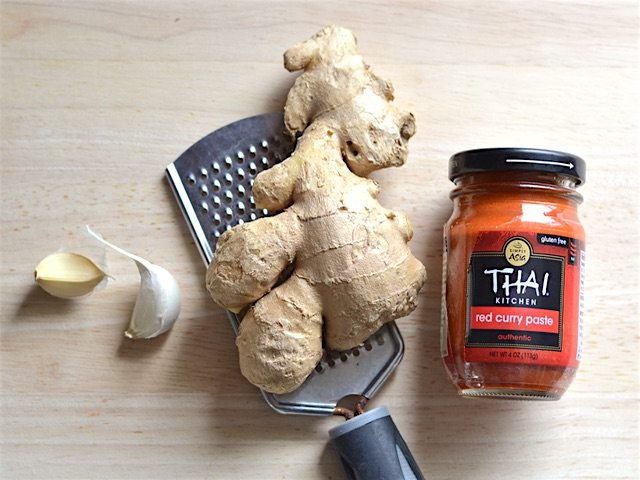 Garlic Ginger Thai Curry Paste for Thai Curry Vegetable Soup