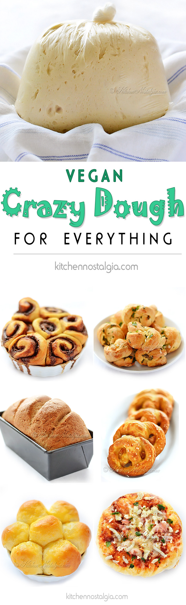 Vegan Crazy Dough - kitchennostalgia.com