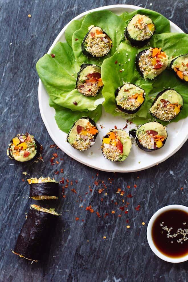 """Veggie """"Sushi"""" Rolls"""