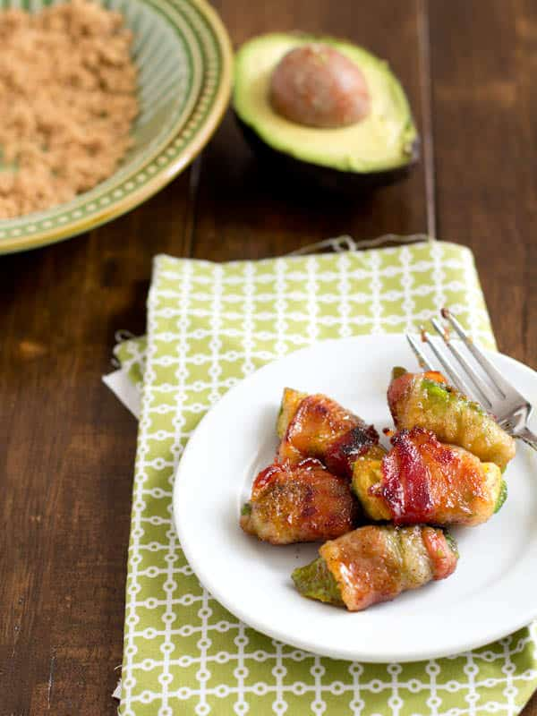 Bacon Wrapped Avocadoes