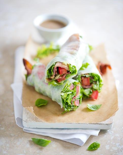 Bacon Lettuce Tomato Spring Roll