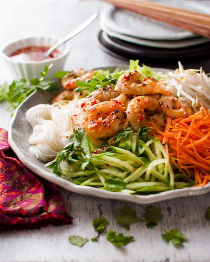 Vietnamese Shrimp (Prawn) Noodle Salad