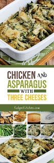 Chicken and Asparagus with Three Cheeses found on KalynsKitchen.com