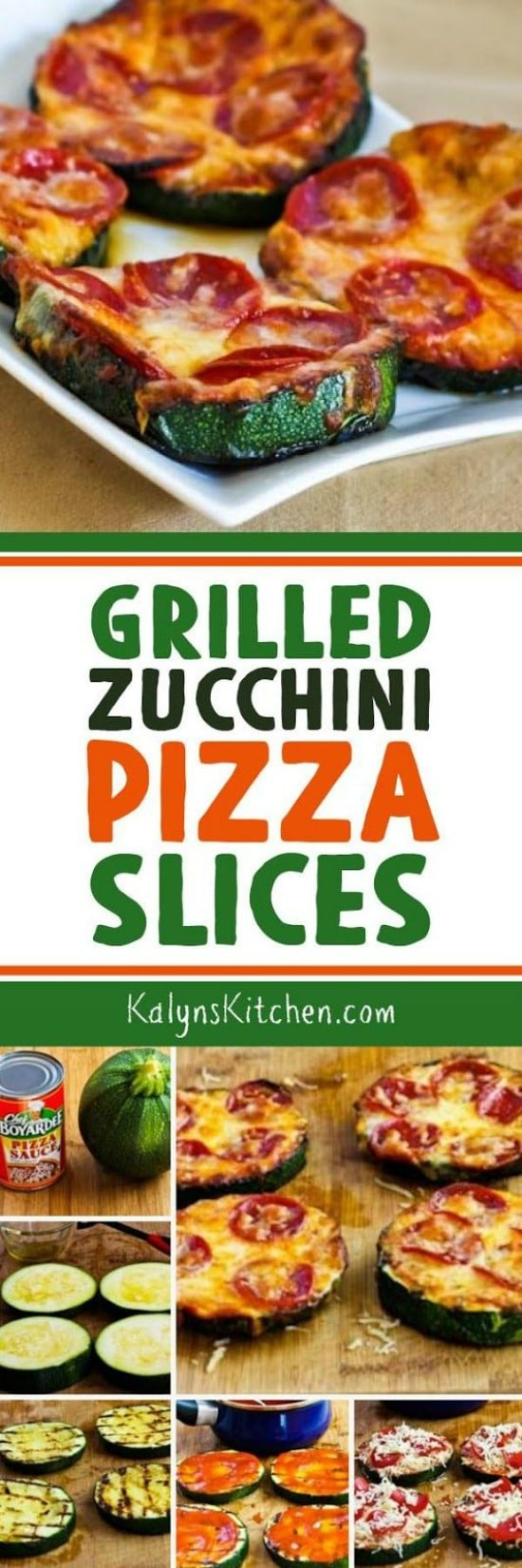Grilled Zucchini Pizza Slices found on KalynsKitchen.com