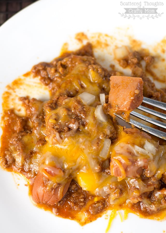 Low Carb Chili Dog Casserole: Ditch the carbs with this Low Carb Chili Dog Bake!