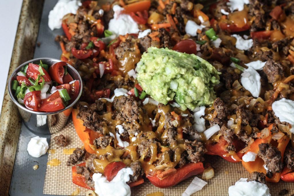 Bell Pepper Nachos recipe via Mince Republic