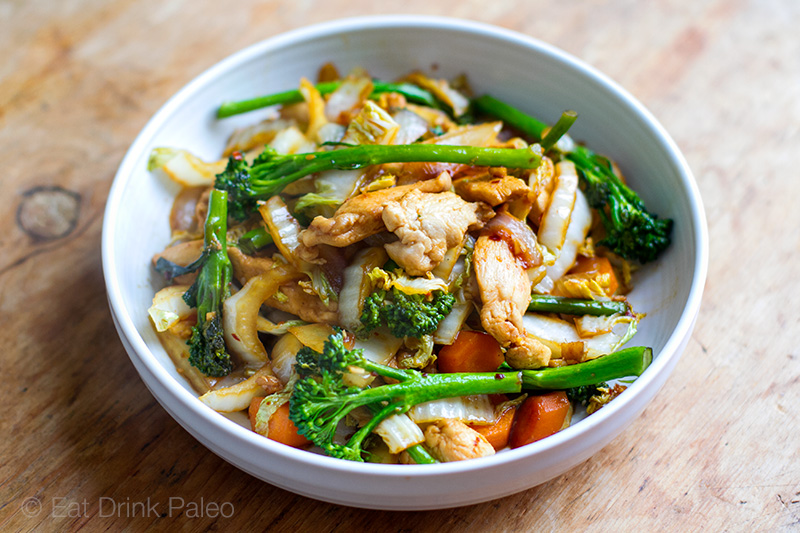 Chicken Cabbage Stir-Fry ( Paleo, Whole30, Gluten-free)