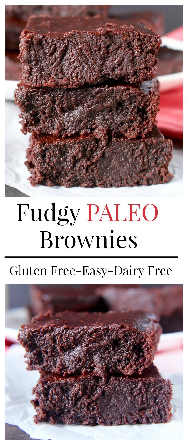 Fudgy Paleo Brownies