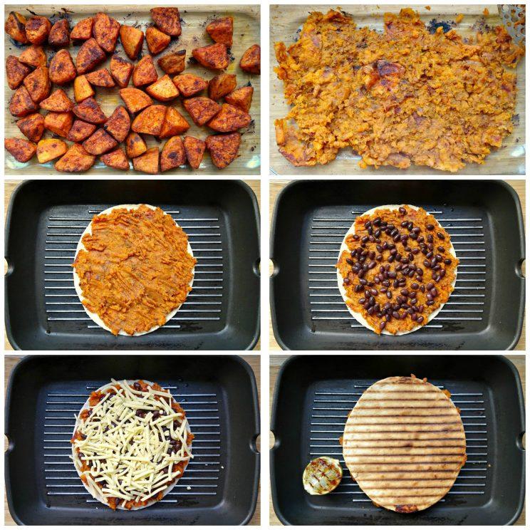 Roasted Sweet Potato and Black Bean Quesadillas - Guidance Photos