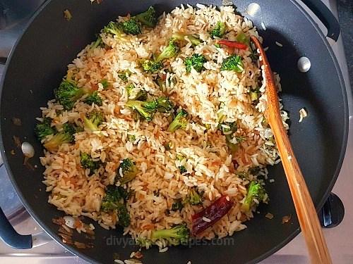 lemon broccoli rice, lemon rice with broccoli, broccoli lemon rice