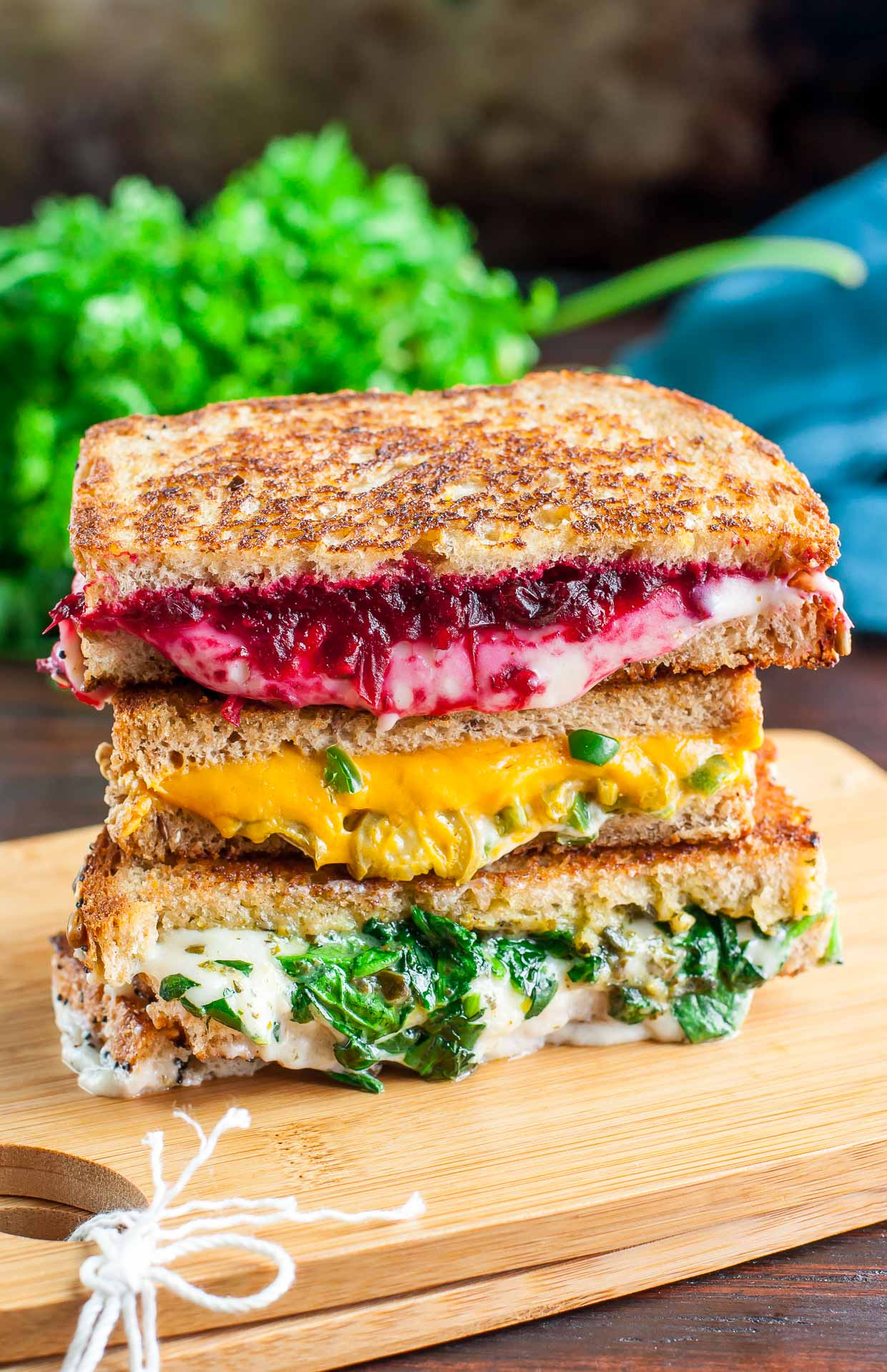 Vegan Grilled Cheese - Three Ways! Each easy cheesy sandwiches features 100% vegan cheese in all it's melty, stretchy glory!
