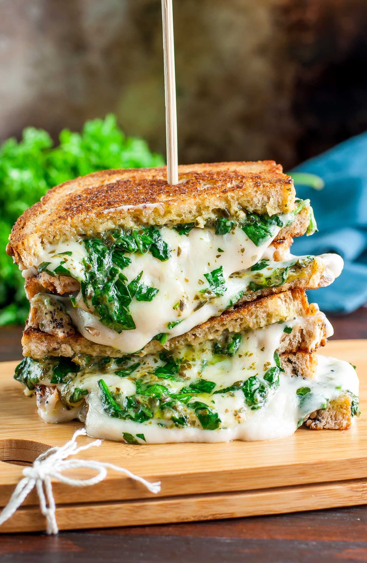 Vegan Grilled Cheese - Three Ways! VEGAN Spinach Pesto Grilled Cheese