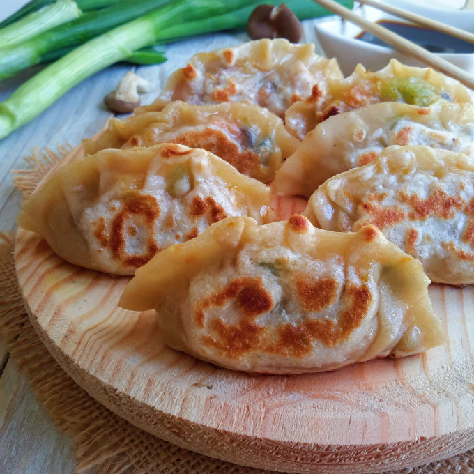 Delicious vegan potstickers. Don't be intimidated, they're easy! You can even make your own wonton wrappers to be sure that they are free from all animal products.